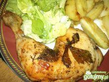 Udka z kurczaka z lubczykiem