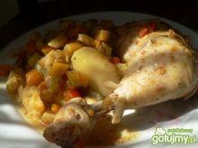 Udka z kurczaka z warzywami z rękawa
