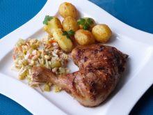 Udko z kurczaka w cebulowo-imbirowej marynacie