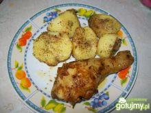 Udko z kurczaka z opiekanymi ziemniakami