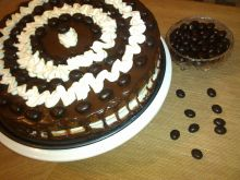Urodzinowy tort wuzetka
