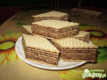 Wafel z masą kakaowa