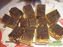 Wafelki z masą w czekoladzie
