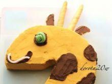 Wafelkowe uszy żyrafy - tort