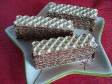 Wafle z kremem sernikowo-czekoladowym