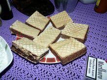 Wafle z nadzieniem czekoladowo cytrynowm