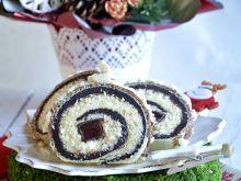 Waflowa rolada z galaretką w czekoladzie