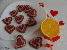 Walentynkowe ciasteczka pomarańczowe