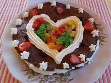 Walentynkowe serce z nitek