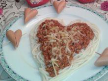 Walentynkowe spaghetti