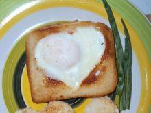Walentynkowe tosty serduszka
