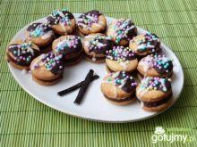 Waniliowe ciasteczka z ciemną masą