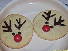 Waniliowe kruche ciasteczka z Rudolfem