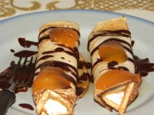 Waniliowe naleśniki z serem i czekoladą