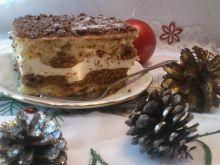 Waniliowo - kakaowe ciasto z kremem budyniowym