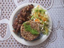 Warkocz mięsny z kaszą gryczaną