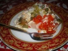 Warstwowa sałatka z ryżem