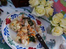 Warzywa i botwinka z kaszą