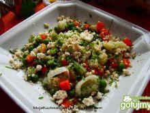 Warzywa na parze z serem twarogowym wędz