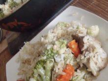 Warzywa na pateni z mozarellą