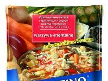 Warzywa orientalne z kurczakiem i sosem