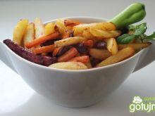 Warzywa pieczone jak frytki (do ryb)
