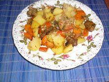 Warzywa pieczone z mięskiem