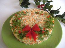 Warzywa w formie sałatki do sandacza
