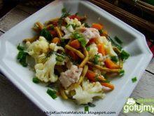Warzywa z gotowaną rybą