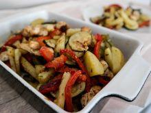 Warzywa z kurczakiem z piekarnika