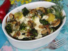 Warzywa zapiekane pod śmietanową kołderką