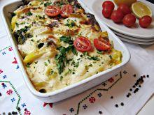 Warzywa zapiekane w kremowym sosie