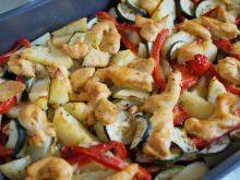 Warzywa zapiekane z mięsem