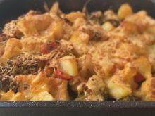 Warzywa zapiekane z serem i bułką tartą