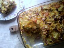 Warzywna fritata z kiełbasą
