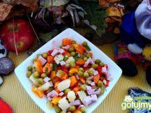Warzywna z sosikiem czosnkowym