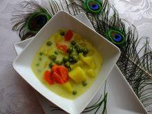 Warzywna zupa z serkiem topionym