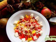 Warzywno ryżowa sałatka z fetą