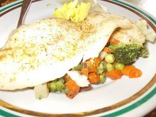 Morszczuk pieczony z warzywami
