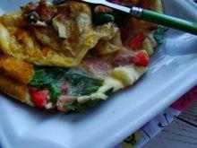 Warzywny omlecik z grzankami