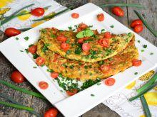 Warzywny omlet  z szynką