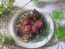 Wątróbka cielęca grillowana z truskawkami