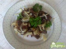 Wątróbka wieprzowa z cebulką wg Megg