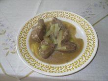 Watróbka z sosem