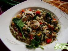 Wegańska potrawka z ryżem