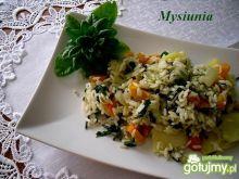 Wegańskie danie z dzikim ryżem