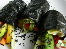 """Wegańskie """"sushi"""" bez ryżu"""
