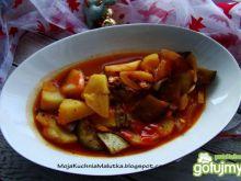 Wegetariańska potrawka z ziemniaków i ba
