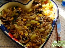 Wegetariański obiadek z ryżem i selerem