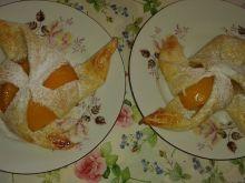 Wiatraczki francuskie z brzoskwinią